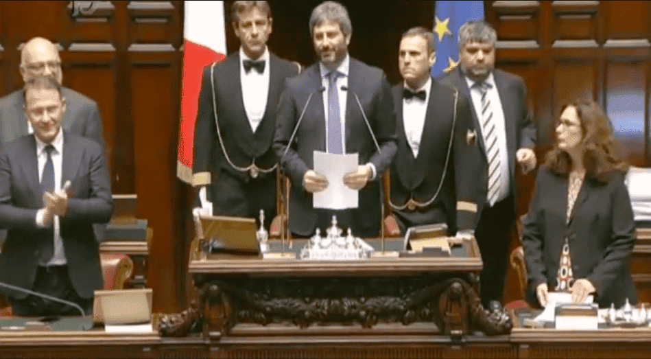 Eletti i presidenti di camera e senato sono roberto fico for Diretta camera dei deputati streaming
