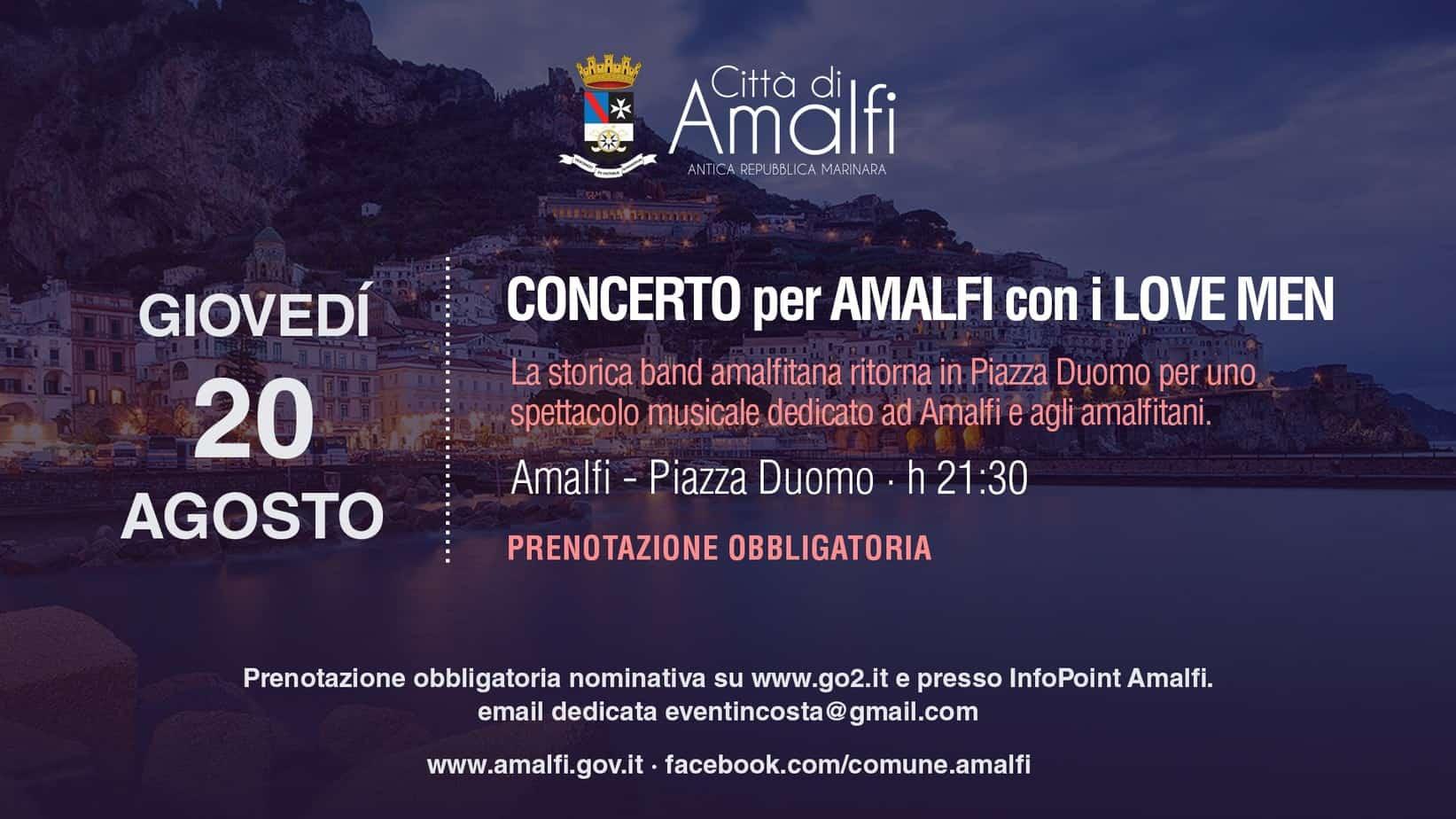Eventi estivi ad Amalfi: concerto dei Love Men e spettacolo ...
